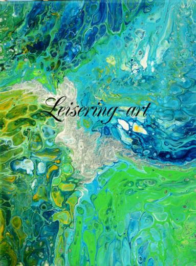 Nr. 21 ; 30 cm x 40 cm, Acryl auf Canvas Fluid Art